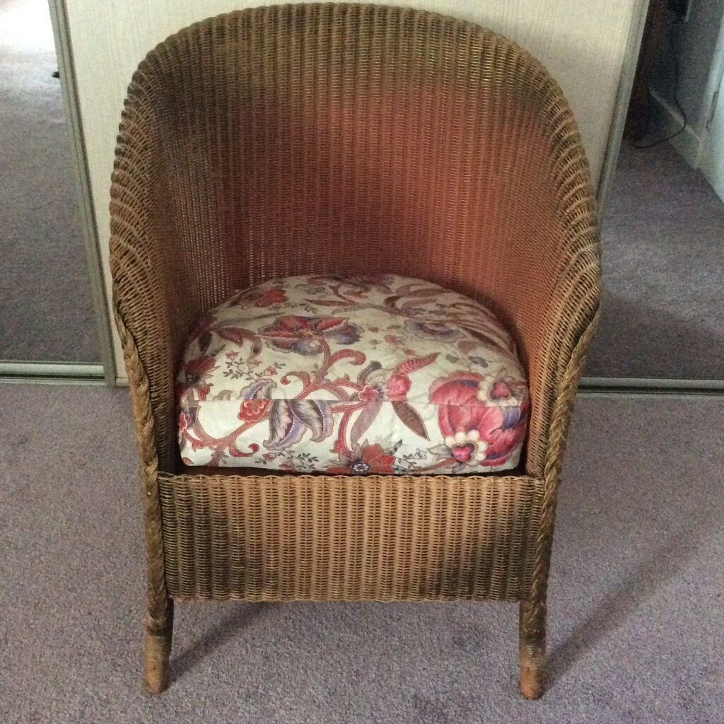 original lloyd loom 39 lusty 39 chair with sprung seat and label in ellon aberdeenshire gumtree. Black Bedroom Furniture Sets. Home Design Ideas