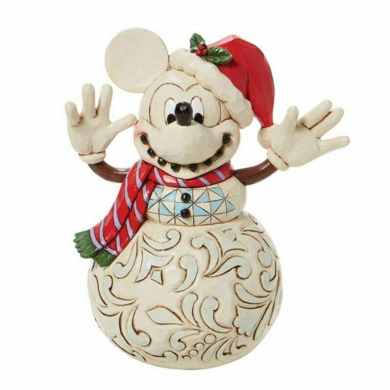 Disney Traditions Mickey Snowman Figurine 6008976