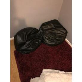 2 x black bean bags