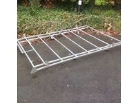 Galvansied van roof rack with rear rollers