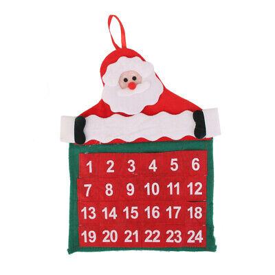 Calendario Dell Avvento BABBO NATALE APPLIQUE DECORAZIONI CASA FESTE NATALE