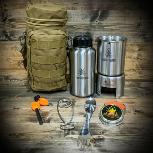 Stainless Steel Bottle Cooking Kit with Bag   FREE USA Delivery!