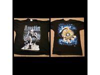 WWF WWE TNA Wrestling Shirts Used £10 each Austin Rock Bret Hart etc