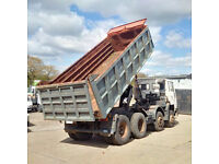 Left hand drive Volvo FS10.320 8X4 12 tyres 32 Ton tipper.FULL SPRINGS SUSPENSION.