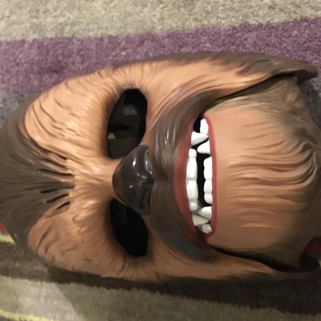 Chewbacca mask. Star Wars. Creates noise. A great Christmas gift.