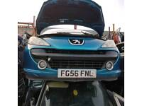 blue peugeot 207 2006 2007 from bumper complete with spots
