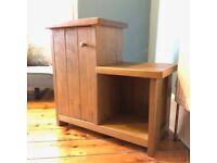 Solid wood side unit