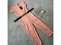 Missguided Jumpsuit Nude Colour Size 10 ***New with tags***