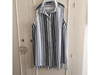 Primark striped top size 18