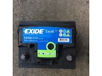 EXIDE Excell 50Ah 12V battery suitable for small car