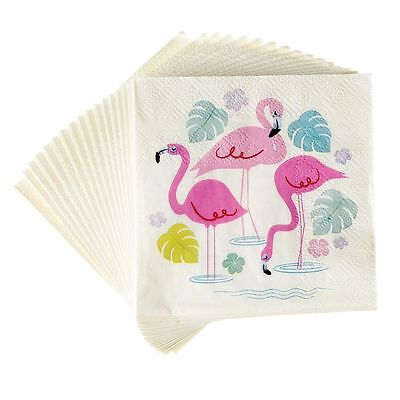 Rex London PACK OF 20 FLAMINGO BAY COCKTAIL NAPKINS