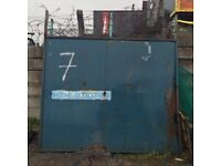 2 *yard gate for sale 9ft wide approx 8ft high plus barb wire at top about 18 ''