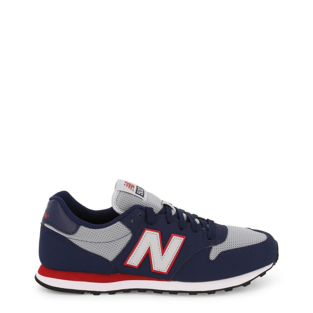 Neuf Balance Chaussures Hommes Sneakers Bas Gm500sgr Bleu Marin Original