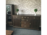 Sideboard Old style solid wooden set, with a table