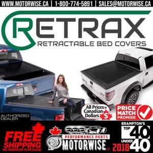 Retrax Retractable Bed Covers | Power and Manual Hard Tonneau Covers | Free Shipping only at Motorwise.ca