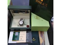 New Boxed Silver Rolex Daytona With White Face and Black Bezel Comes Rolex Bagged and Boxed