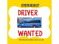 PSV / PCV DRIVER WANTED PART TIME PERMANENT SCHOOL RUN MINIBUS DRIVER manual D or D1 drivers license
