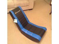 X Rocker Video Rocker gaming chair in blue and black