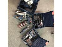 Bosch 18v cordless set 4.0ah planer jigsaw multi circular Sds combi drill