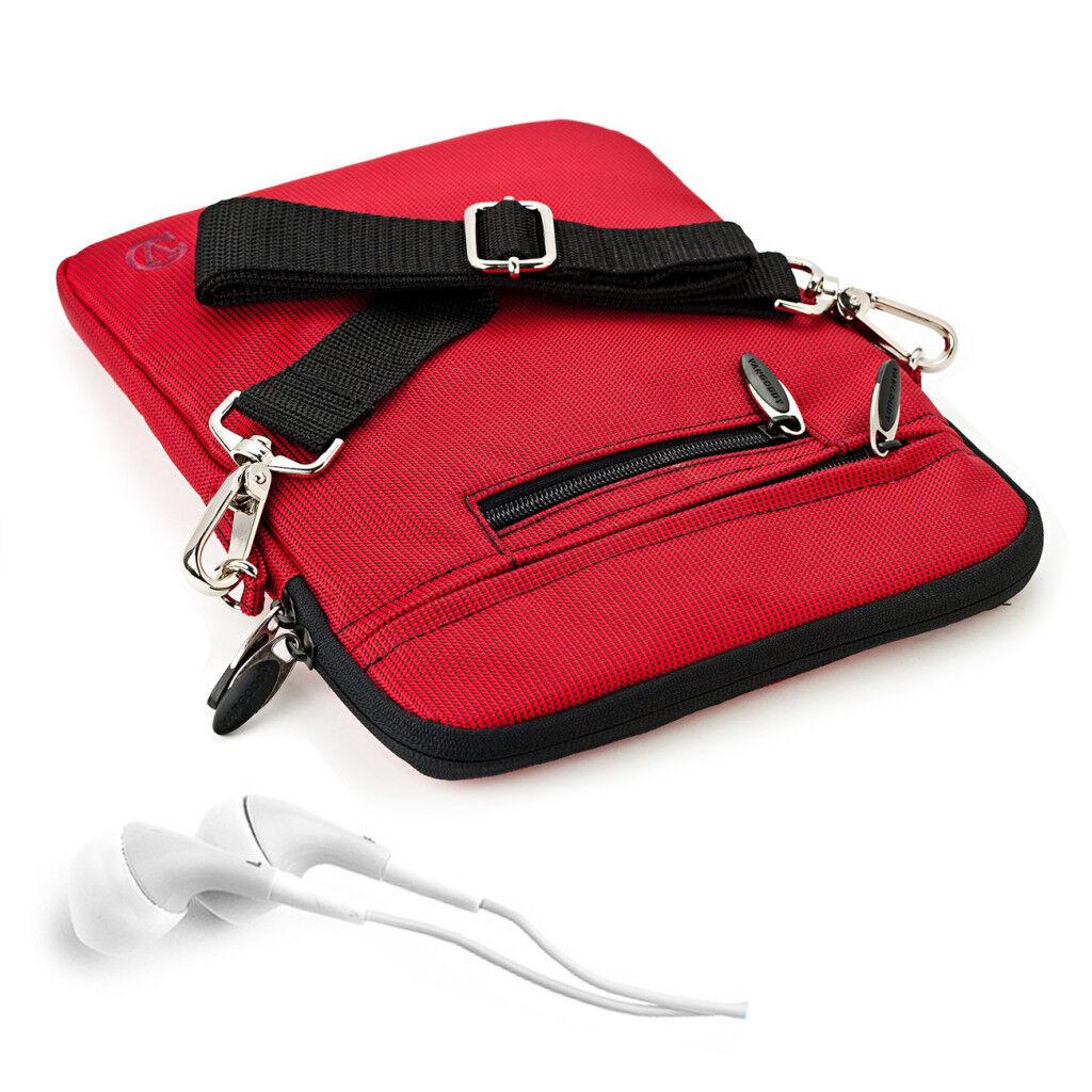 red tablet shoulder bag pouch sleeve case
