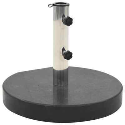vidaXL Parasol Base Granite 30kg Round Black Umbrella Weight Stand Holder