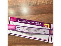 Edinburgh Hogmanay Street Party 2 tickets