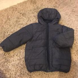 NEXT Baby Boys Coat / Jacket - Age 18 Months to 2 Years, Navy with Hood
