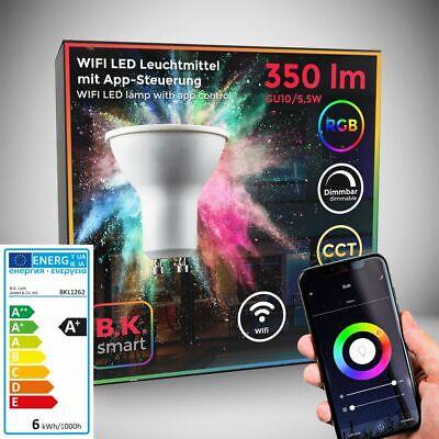 LED WiFi Leuchtmittel RGB CCT Lampe dimmbar Smart Birne GU10 Alexa Google...