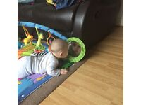 Mat and bouncy chair