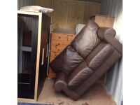 leather sofa cheap to clear can deliver