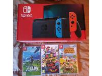 Nintendo Switch & 3 Games