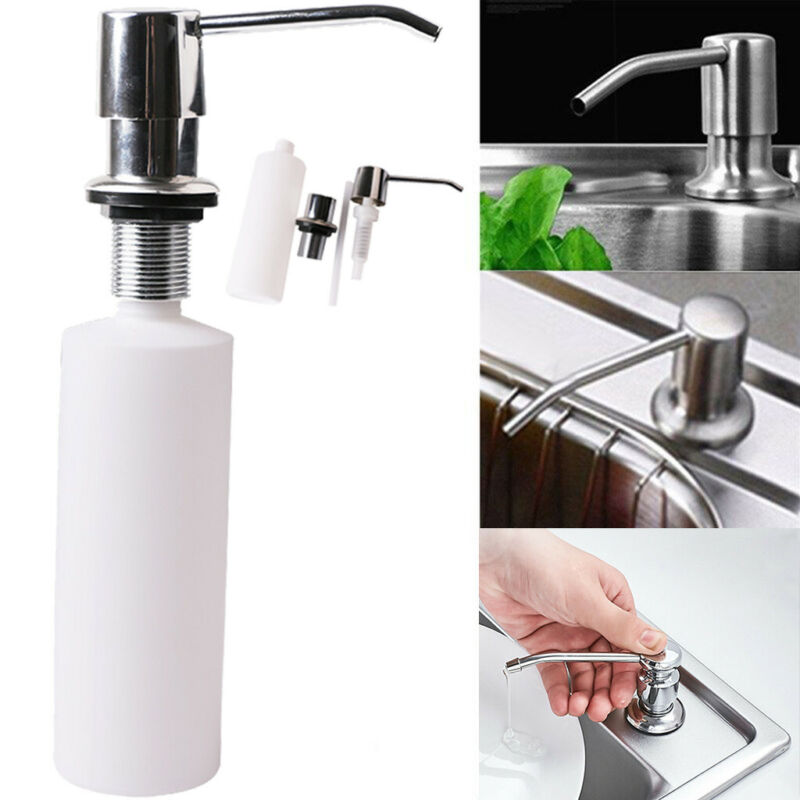 Details about Countertop Liquid Hand Pump Replacement Kitchen Sink Soap  Dispenser 300ML