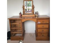 Solid wood dressing table, with 8 drawers for upcycling project