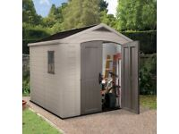 8 x 8 keter shed brand new