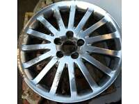 Genuine Volvo 17x7J wheel - unbuckled and usable but would benefit from refurbishment