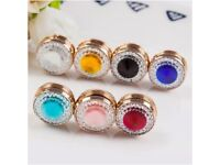 Hijab magnetic pin both side crystal brand new