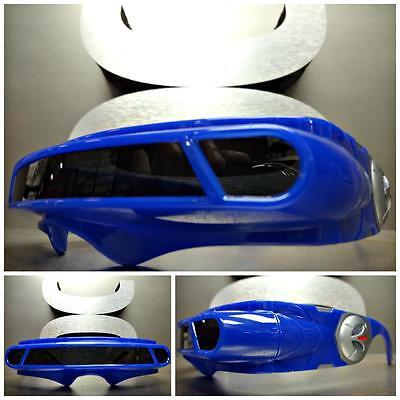 Fach Roboter Alien Party Kostüm Zyklop Futuristisch Schild Sonnenbrille Blau