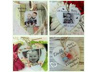Personalised acrylic hanging plaques