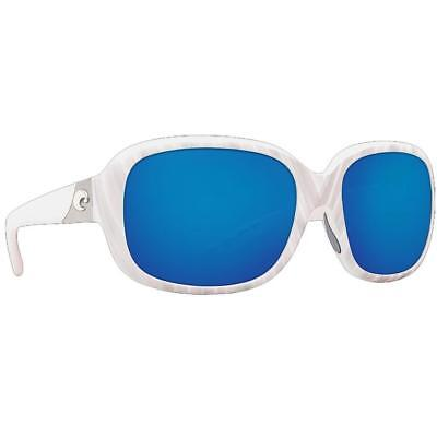 6bb7ca2ee8 New Costa del Mar Gannet Polarized Sunglasses Seashell White Blue 580P Women