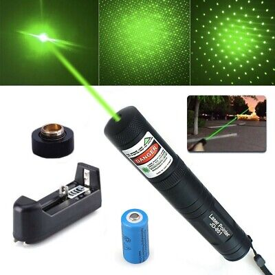 Military Grade Green Laser Torchpen With Star Cap Includes Charger Battery