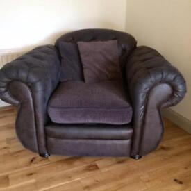 2 single chairs, charcoal grey