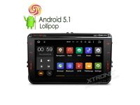 "8"" HD Android Bluetooth GPS SatNav Car WiFi DVD Player USB SD Stereo For VW / Seat / Skoda £349.99"
