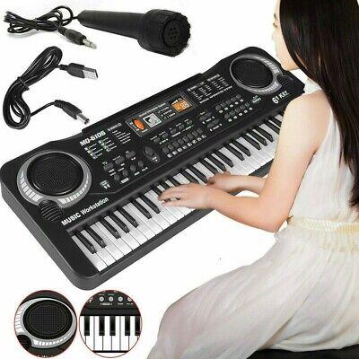Niños 61 tecla Órgano musical electrónico con micrófono USB Piano Música Teclado