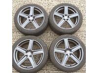 18 inch Fox alloy wheels vw Golf Beetle Bora Audi A3 Toyota Celica mg Rover zs zt Seat Toledo alloys