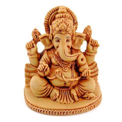 Ganesha Statue 2 75  Ganesh Tan Resin Hindu Elephant God Sitting Indian Deity