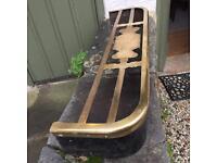 Brass trivet and iron fire fender