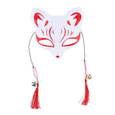 Japanische Fuchs Maske Halbe Gesichtsmaske Halloween Cosplay Partei