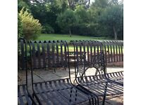 Black powder coated dining/garden chairs