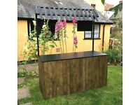Flat Pack Market Stall - Wooden Pop-up Bar - Event Exhibition Stand