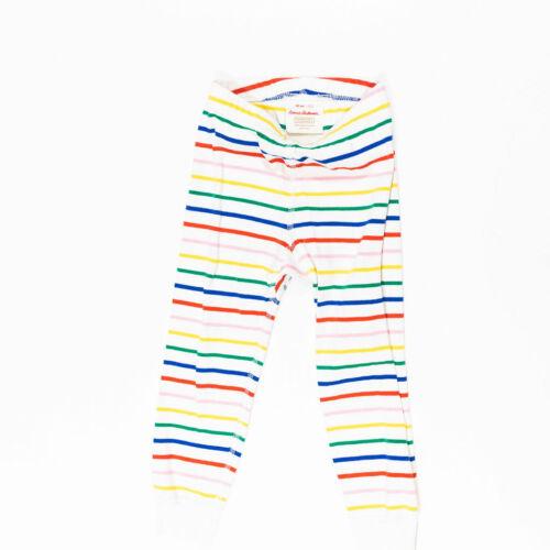 Hanna Andersson Rainbow Striped Print Pattern Organic Cotton Leggings Pants 3